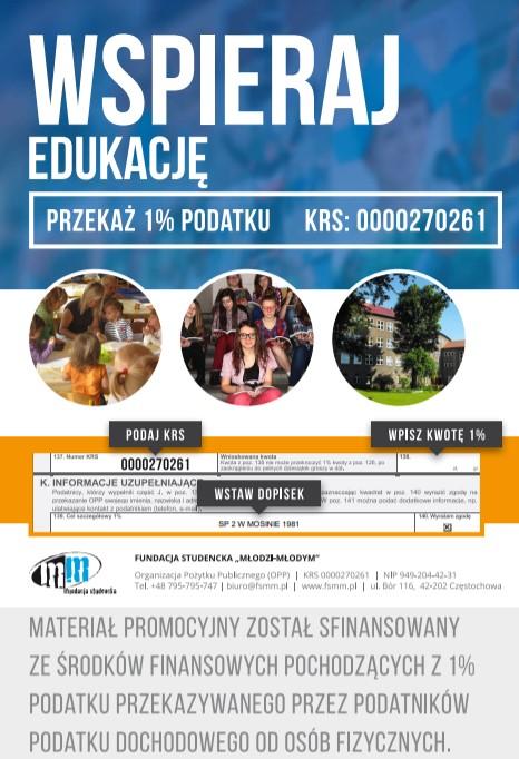 plakat wspieraj edukację